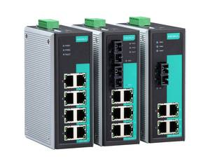 Moxa EDS-305/308 unmanaged industrial Ethernet switch