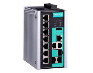 Moxa EDS-510e managed industrial Ethernet switch