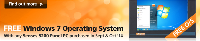 Free WES7 Operating System with any Senses 5200 Panel PC purchased in September and October 2014